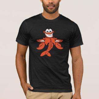 Le T-shirt des hommes de homard de bande dessinée
