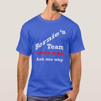 Le T-shirt des hommes de l'équipe de Bernie