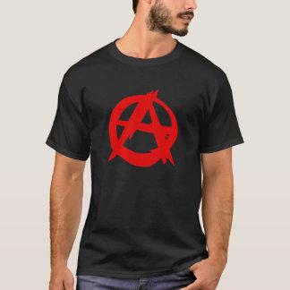 Le T-shirt des hommes de logo d'anarchiste