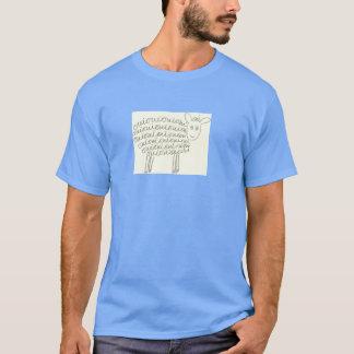 Le T-shirt des hommes de moutons d'Oui