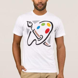 Le T-shirt des hommes de palette de peintres