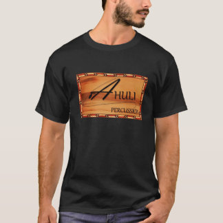 Le T-shirt des hommes de percussion d'Ahuli - noir
