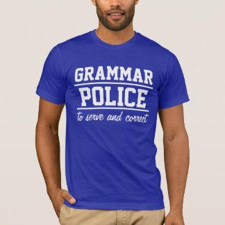 Le T-shirt des hommes de police de grammaire