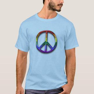le T-shirt des hommes de symbole de paix de