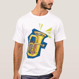 Le T-shirt des hommes d'instrument de tuba