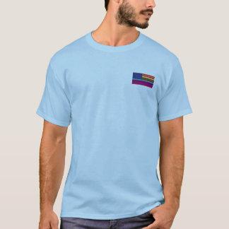 Le T-shirt des hommes gais de drapeau des