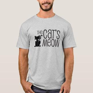 Le T-shirt des hommes gris du Meow du chat