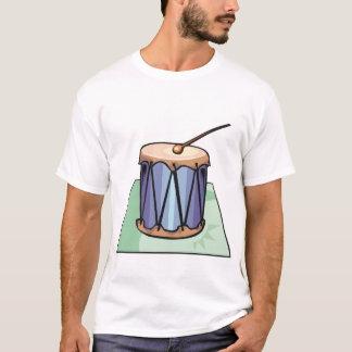 Le T-shirt des hommes simples de tambour