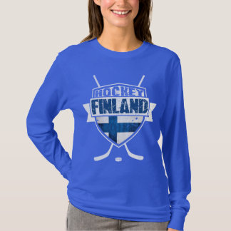 Le T-shirt d'hockey des femmes finlandaises de
