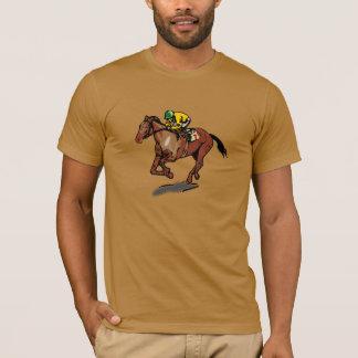 Le T-shirt d'hommes de course de chevaux