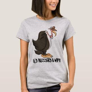Le T-shirt drôle des vieilles de Buzzard femmes de