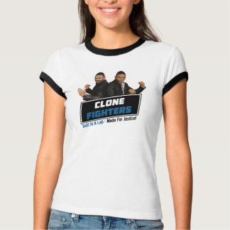 Le T-shirt du combattant de clone de femmes