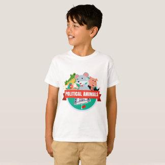 Le T-shirt du garçon politique d'animaux