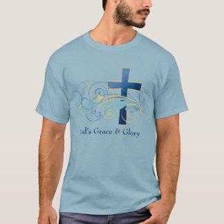 Le T-shirt foncé de base des hommes de la grâce et