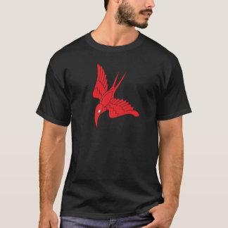 Le T-shirt foncé de base des hommes rouges de