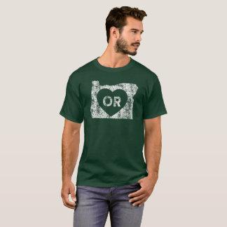 Le T-shirt foncé de base d'I d'amour de l'Orégon