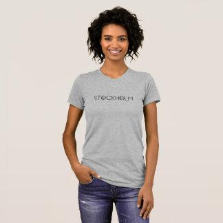 Le T-Shirt gris avec estampille 'Stockholm'