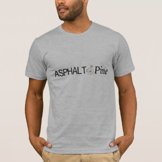 Le T-shirt léger des hommes d'asphalte et de pin