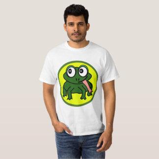 Le T-shirt mignon d'hommes de grenouille de Roscoe