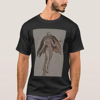 Le T-shirt noir des hommes d'ange de nomade