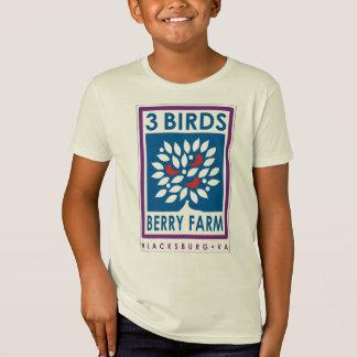 Le T-shirt organique de 3 d'oiseaux de baie
