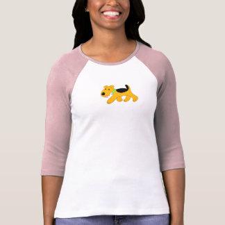 Le T-shirt raglan d'Airedale Terrier des femmes