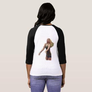 Le T-shirt raglan des femmes de TNIT (secousse de