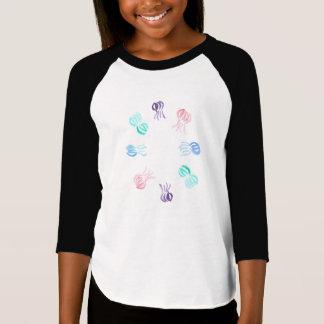 Le T-shirt raglan des filles de méduses