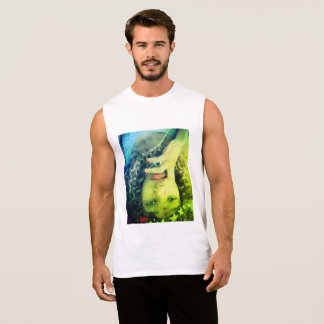 Le T-shirt sans manche des hommes