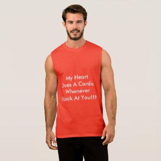 Le T-shirt sans manche des hommes approprié au