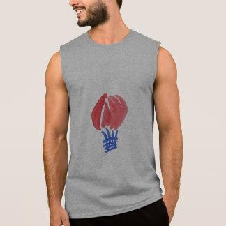 Le T-shirt sans manche des hommes de ballon à air