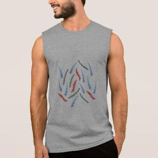 Le T-shirt sans manche des hommes de branches