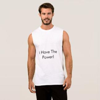 """le T-shirt sans manche des hommes indiquant, """"j'ai"""
