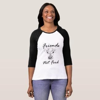 Le T-shirt végétalien des femmes de base-ball de