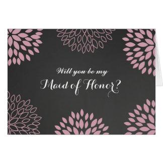 Le tableau floral rose soit ma domestique de carte