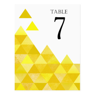 Le Tableau géométrique de triangles numéro | or Cartes Postales