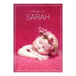 Le tableau pointille des annonces de naissance carton d'invitation  12,7 cm x 17,78 cm