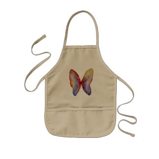 Le tablier des enfants d'art de papillon