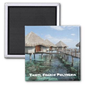 Le Tahiti, Polynésie française Magnet Carré