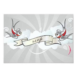 Le tatouage de rockabilly avale la carte de carton d'invitation 8,89 cm x 12,70 cm