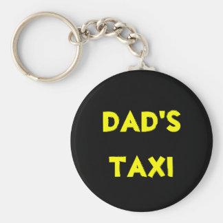 le taxi du papa porte-clé rond