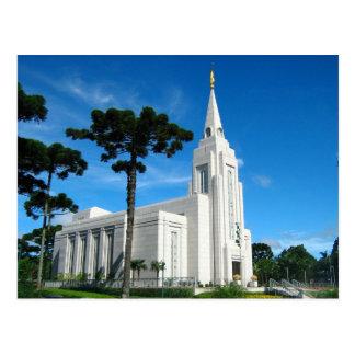 Le temple de Curitiba Brésil LDS Cartes Postales