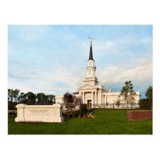 Le temple de Hartford le Connecticut LDS Cartes Postales