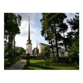 Le temple de Stockholm Suède LDS Carte Postale