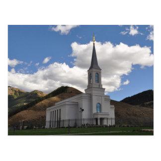 Le temple du Wyoming LDS de vallée d'étoile Carte Postale