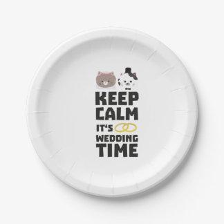 le temps de mariage gardent Zitj0 calme Assiettes En Papier