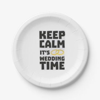 le temps de mariage gardent Zw8cz calme Assiettes En Papier