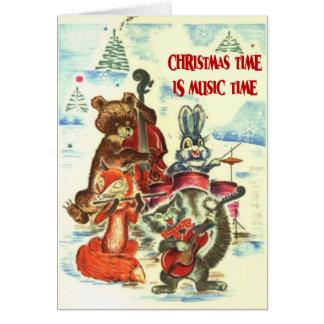 Le temps de Noël est temps de musique bande anima Cartes