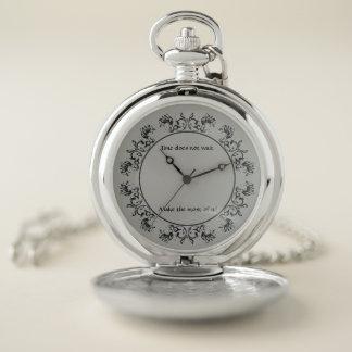 Le temps n'attend pas la montre de poche