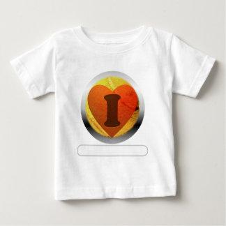 Le tennis du coeur I ajoutent vos mots T-shirt Pour Bébé